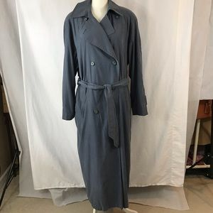 LONDON FOG Coat Rain All Weather Trench Size 16